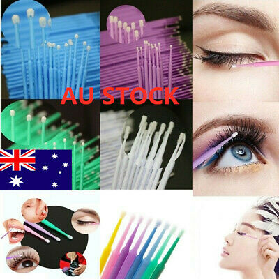 Women 500x Micro Brush Eyelash Tool  Disposable Applicators Extensions Makeup K