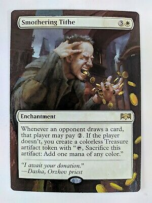 Smothering Tithe Ravnica Allegiance MTG Magic Hand Painted Altered Art