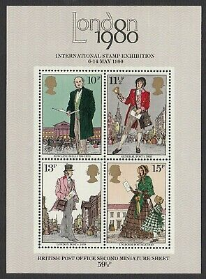"""1979 Sir Rowland Hill Miniature Sheet """"Bright Blue Omitted"""". SG MS1099e"""