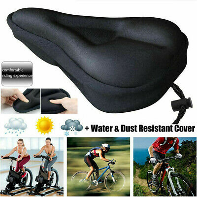 Silicone Gel Extra Soft Bike Bicycle MTB Saddle Cushion Seat Cover Pad Comfort-