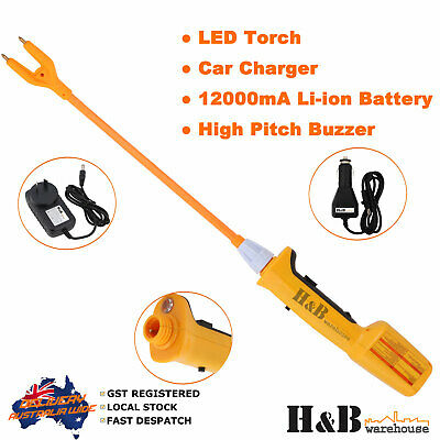 Cattle prodder stock prod electric shock flexi rechargeable Led Torch 92cm 8000V