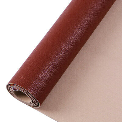 Faux Leather Fabric Brown Color Suede Synthetic Self-adhesive Leather Fabric