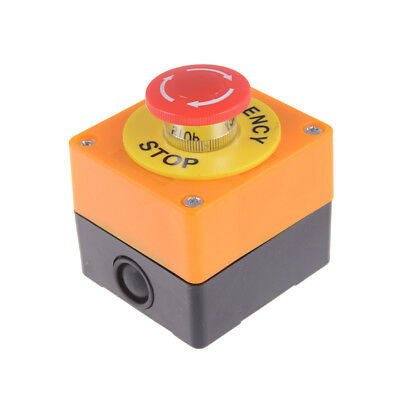 Red Sign Mushroom Emergency Stop Push Button Switch Station DI