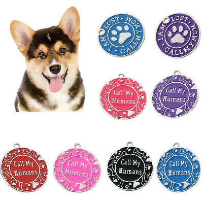 "Personalized Dog Tags Paw Alloy Pet Cat Id Name Tag Engraved ""Call My Mom"