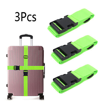 3X Green Travel Luggage Packing Belt Suitcase Strap Baggage Backpack Bag Strap