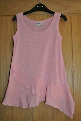 Next Girls Pink Tunic Frill Vest Sleeveless T-shirt Tee Top Summer - Age 5 Years