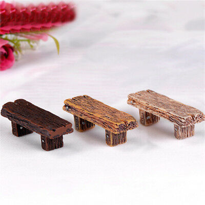 3X Benches Miniature Ornaments Fairy Garden Bonsai Decor Doll house Accessory HD