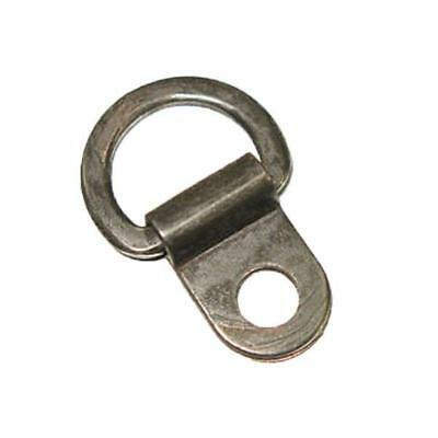 "7/16"" D-Lacing Rings Hooks Gunmetal 50 Pack"