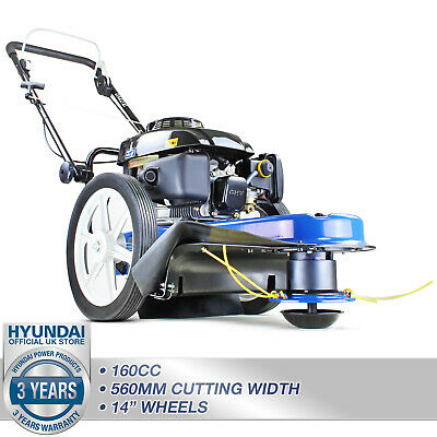 Wheeled Trimmer Garden Strimmer Field Grass Trimmer Lawn Petrol Push HYUNDAI
