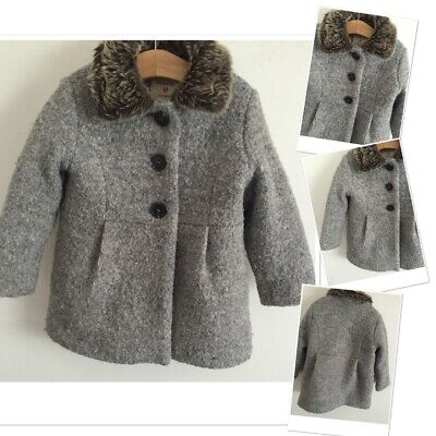 Baby girls Grey Warm Fashion Winter Coat 18-24 Months