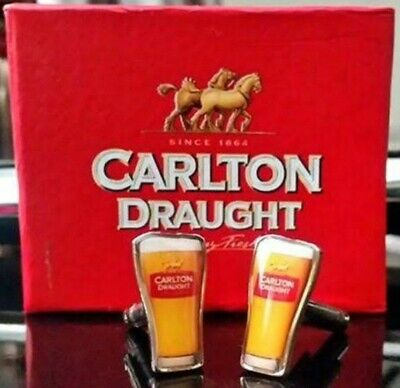Retro CARLTON DRAUGHT BEER GLASS CUFFLINKS