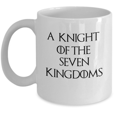 Game of Thrones coffee mug - A knight of the seven kingdoms - House Stark gift