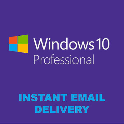Windows 10 Pro 32/64 Bit Win 10 Oem Genuine License Original Activation Key