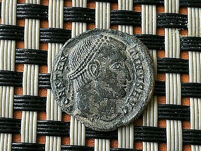 Constantine I The Great 308-337 Ad Ae Follis Vot In Wreath Silvered.