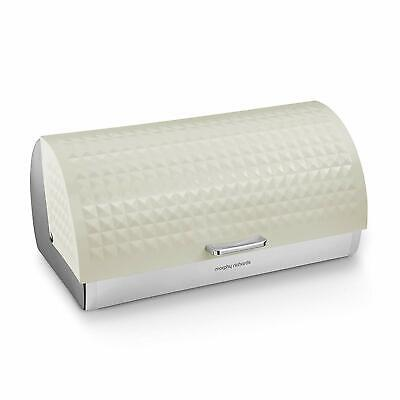Morphy Richards Dimensions Rolltop Bread Bin w/ Stainless Steel Body Ivory cream