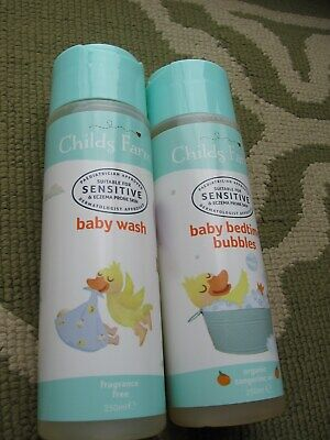 Childs Farm Baby Bedtime Bubbles 250ml and Babywash 250ml
