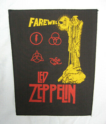 VINTAGE backpatch back patch aufnäher LED ZEPPELIN Farewell 80s VERY RARE