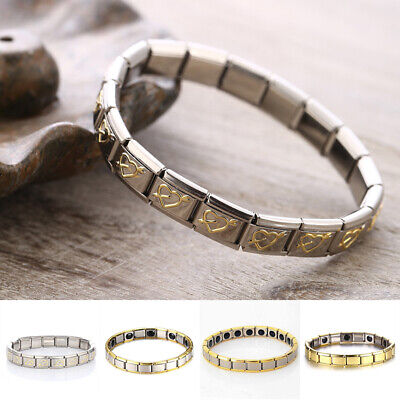 Energy Bracelet Health Care Gift Men Stainless steel Magnetic Therapy 1#~4# New
