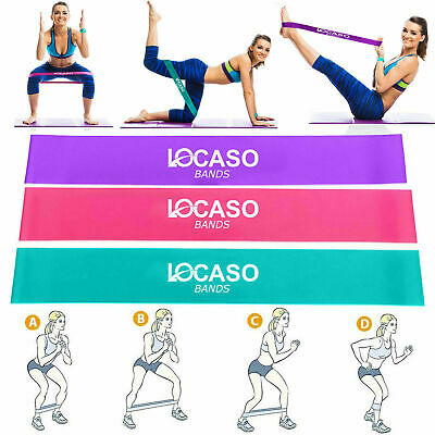 Resistance Loop Bands Elastic Band Home Workout Pilates Exercise Fitness Yoga