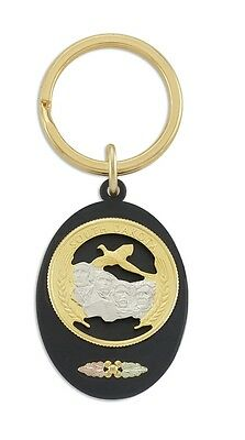 Black Hills Gold key ring South Dakota Quarter mens or womens accessory