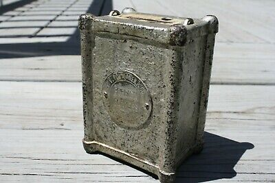 Antique Cast Iron Coin Bank Foreign Bankers New York