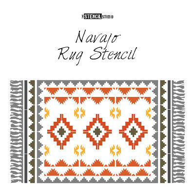 Navajo Patio Rug Stencil - Get cosy outside - Give patios a makeover! 10923