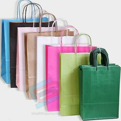 Twist Handle Paper Party and Gift Carrier Bags With Twisted Handles Colours