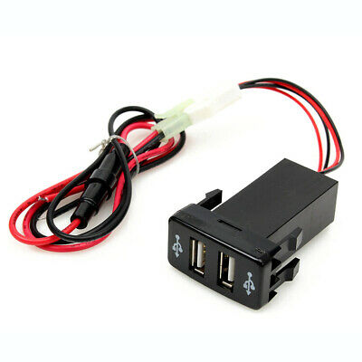 Dual Universal USB 12V Car Lighter Charger Adapter Plug socket for TOYOTA VIA4B4