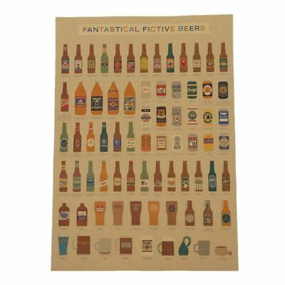 Coffee Beer Wine collection bars kitchen drawings posters decoration, vintage G4