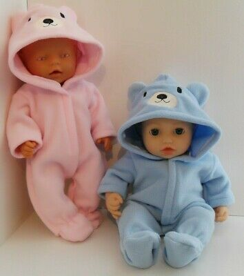 "17"" Handmade Onezie  Dolls Clothes  Fit Baby Born, Annabell 43Cm"