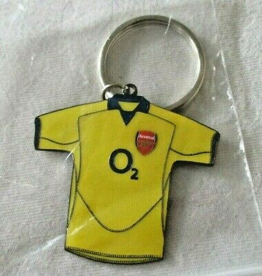 Arsenal Fc Keyring Metal Away Shirt