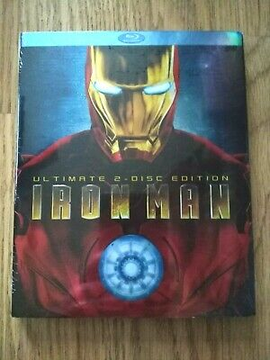 Iron Man (Blu-ray Disc, 2008, 2-Disc Set, Ultimate Edition) New with Slipcover