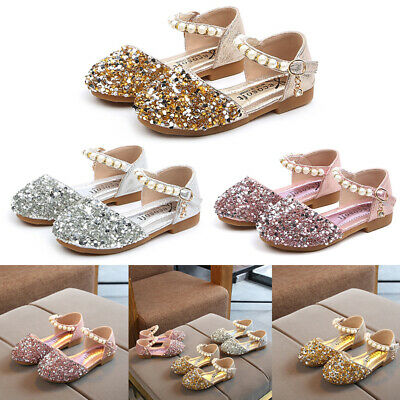 Baby Kid Girl Toddler Leather Sequin Princess Shoes Wedding Party Sandal 12M-12T