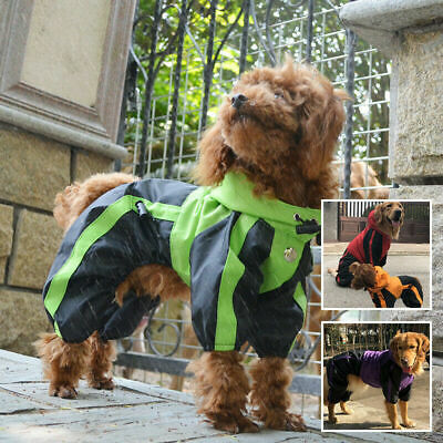 Pet Puppy Dog Clothes Rain Coat 4 Feet Four Legs Raincoat for Small Medium Large