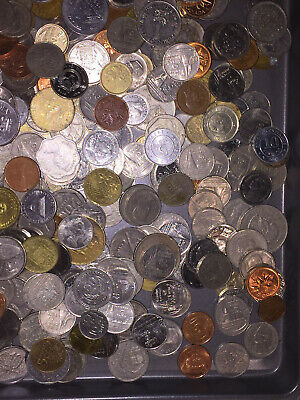 FOREIGN COIN LOT: 5 lbs of Foreign Coins Circulated - many duplicates
