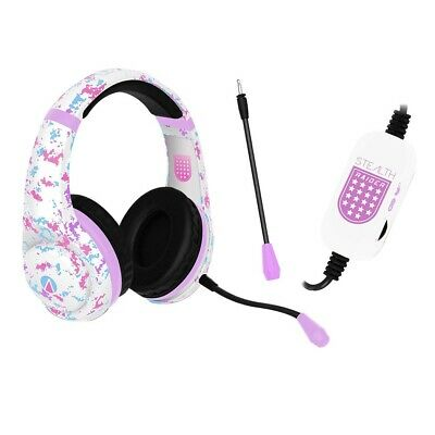 Stealth Raider White and Pink Headset - PC - BRAND NEW