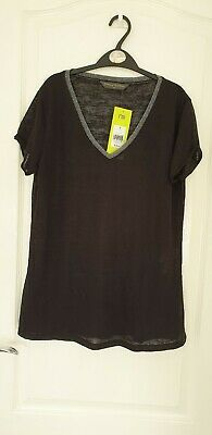 Maternity Black And Silver Short Sleeve Summer Top BNWT Size 10 Mothercare