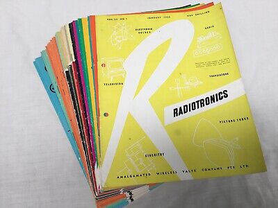 Radiotronics - Industry Publication. 1958 to 1964 (40 Issues)