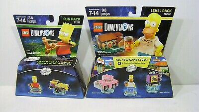 The Simpsons Level & Fun Pack Lego Dimensions Homer And Bart Simpson New In Box