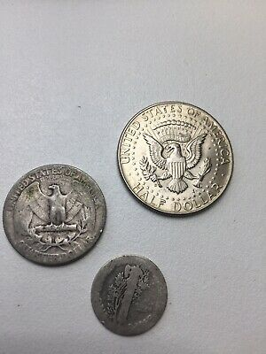 1964 USA Dollar, Quarter Dollar And Dime