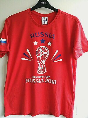 2018 Fifa World Cup Russia Football Cotton In Red New T-Shirt Men Ladies Size L