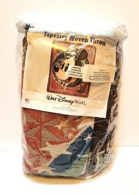 Mickey Mouse Tapestry Woven Throw Blanket Walt Disney World 50 x 60 Epcot