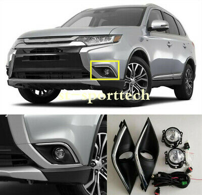 FIT For Mitsubishi Outlander&PHEV 2016-2019 Front fog light assembly+Switch kit
