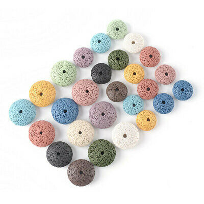 26mm Round Lava Stone Loose Beads Diy Jewelry Making Accessories 1 Lot Colorful