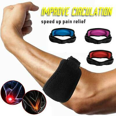 Tennis Elbow Brace Strap Tendonitis Golfers Gel Band Golf Pain Relief Support US