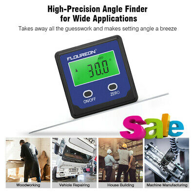 Portable Digital Protractor Gauge Level Angle Finder Bevel Box w/ Magnetic Base