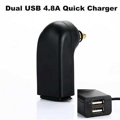 Universal Waterproof Motorcycle Dual-USB Charger Power Socket Adapter Outlet