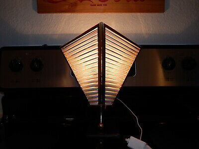 Antique Vintage Art Deco Glass Rod Shade Wall Sconce Light Fixture