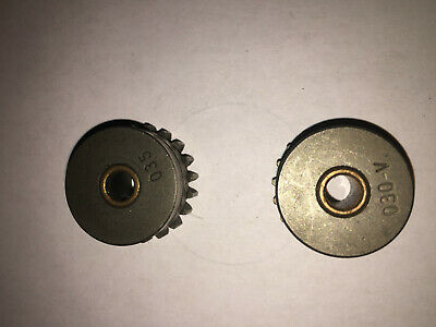 Gear, Drive Roll Miller Welding Lot of 2 - .030 V and .035 gears ID of each .25