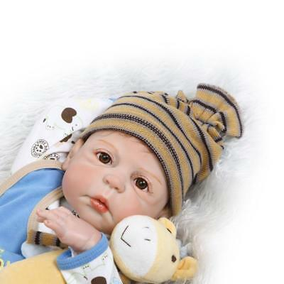 "23"" Reborn Baby Doll Boy Full Body Silicone Vinyl Reborn Toddler Dolls Real Life"